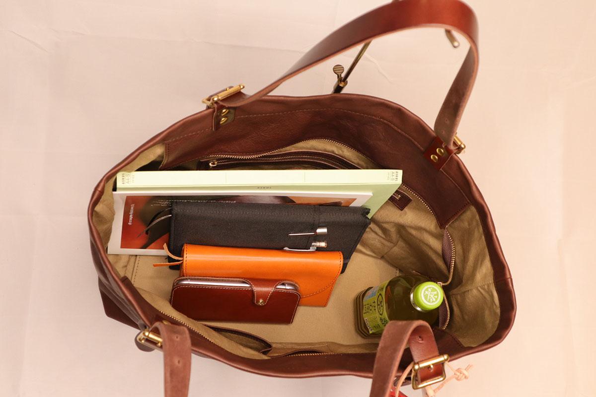 rubono leather -tote bag L size