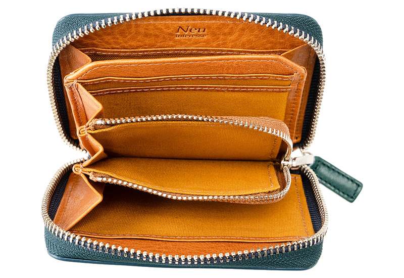 コンパクト財布(ラウンドファスナー札入)