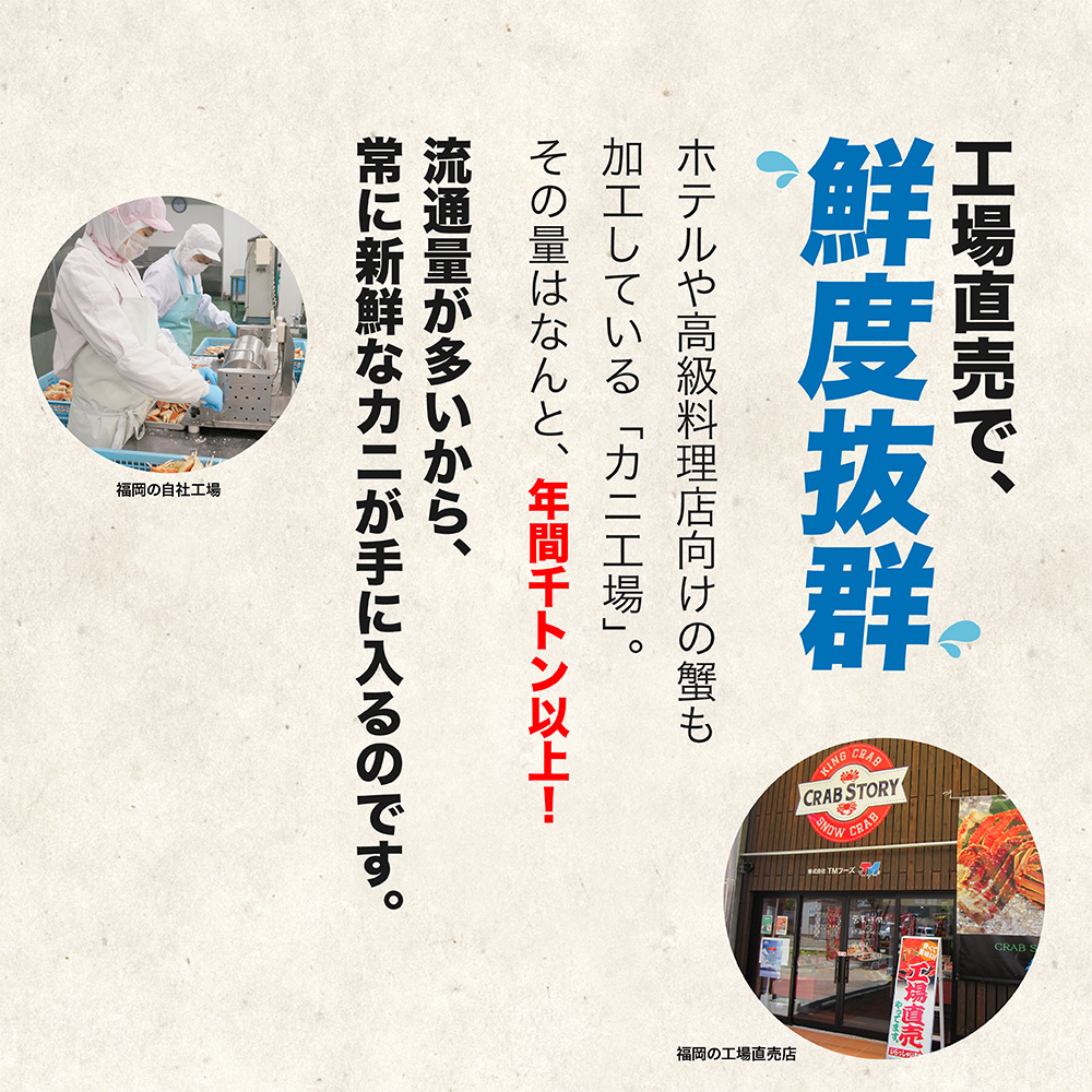 【超超特大】生タラバガニ 2kg ハーフポーション カット済み