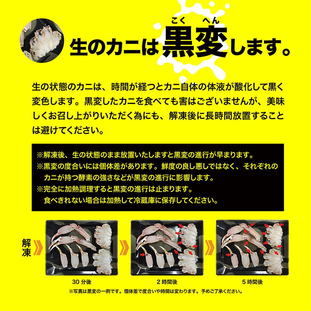 生トゲズワイガニ カット 1.5kgセット(750g x 2箱)