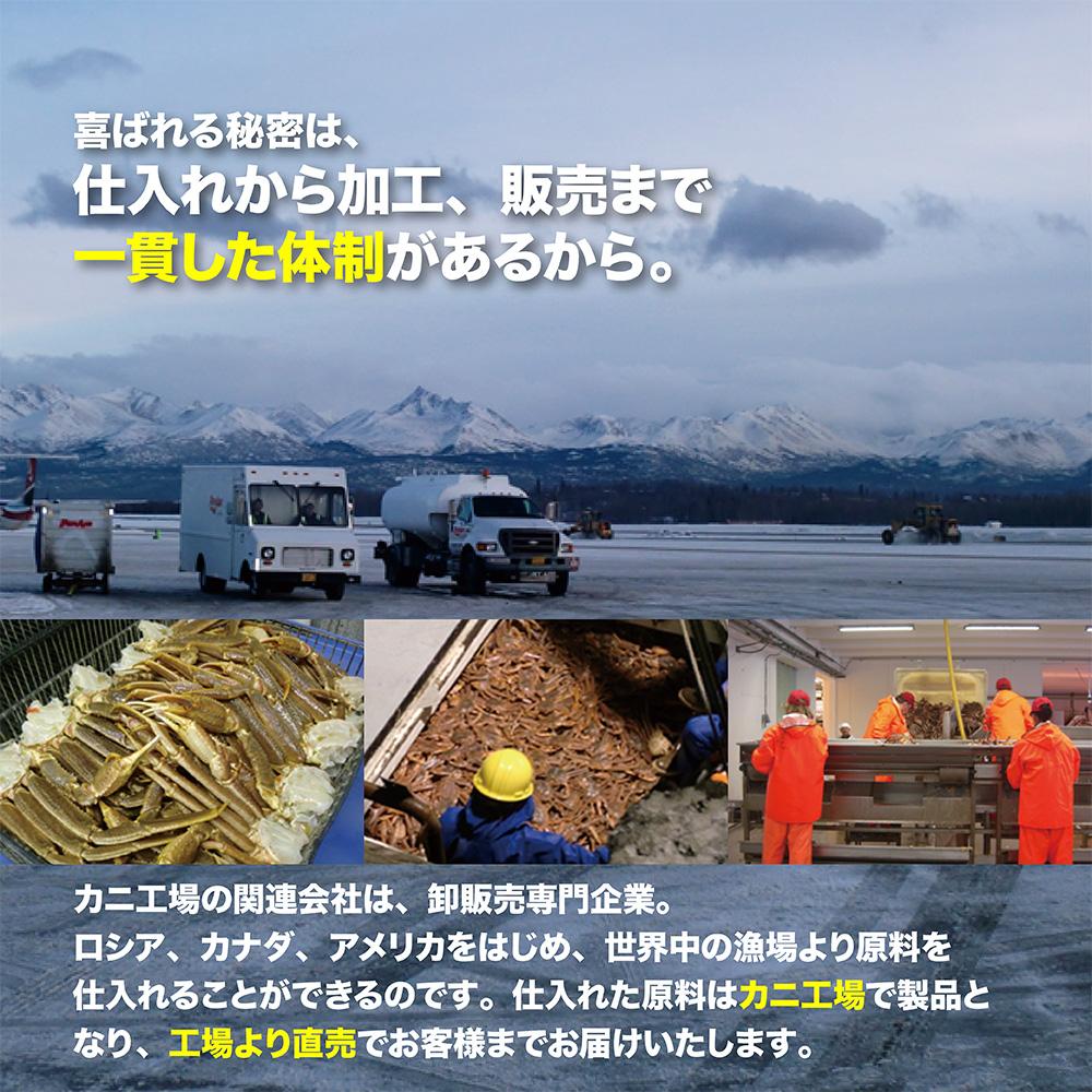 【超特大】ボイルズワイガニ カット済み 2.0kg(総重量2.2kg) ハーフポーション