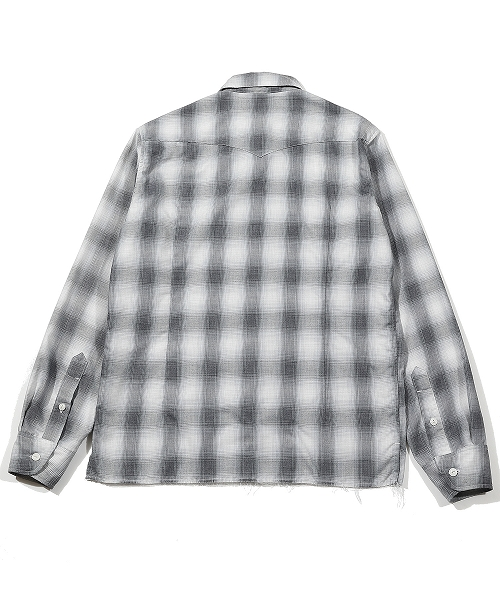 【SexyZone 菊池風磨さん着用】OMBRE CHECK OPEN COLLAR SHIRTS (TSHS2103)