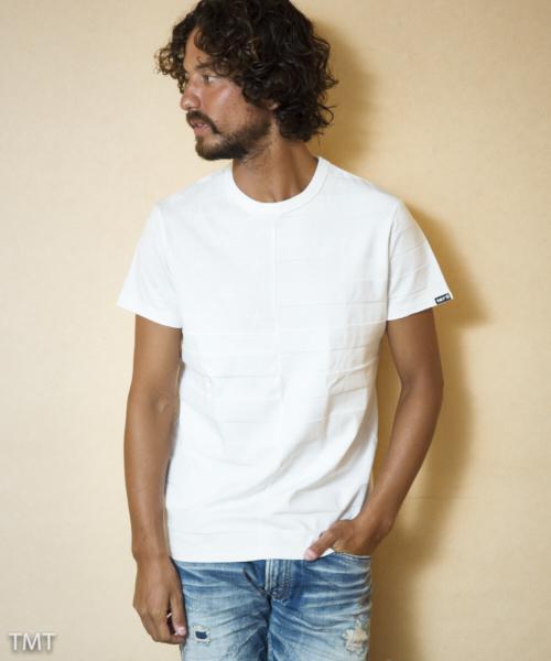 【雑誌Men's JOKER 3月号掲載商品】S/SL LINKS JACQUARD STAR&BORDER TCSS1811 Tシャツ