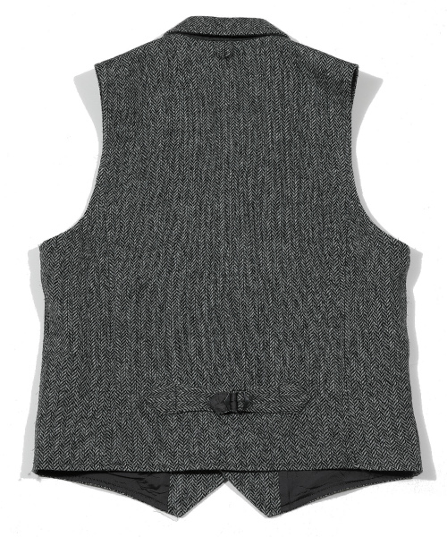 HERRINGBONE WOOL VEST(BRITISH FABRIC)TJKF2002