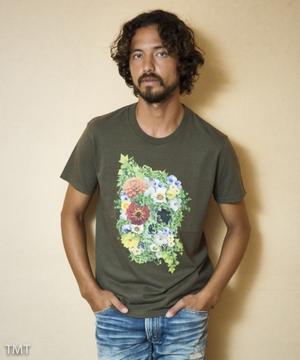 【Kis-My-Ft2 北山宏光さん着用】S/SL 19/1 RAFI JERSEY(BOTANICAL SKULL) TCSS1805 Tシャツ