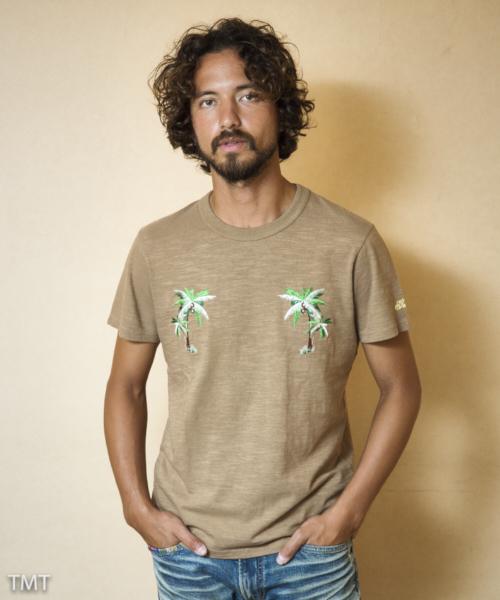 【雑誌Men's JOKER 6月号掲載商品】S/SL 16/1 SOFT TWIST JERSEY(TREE EMBROIDERY) TCSS1810 Tシャツ