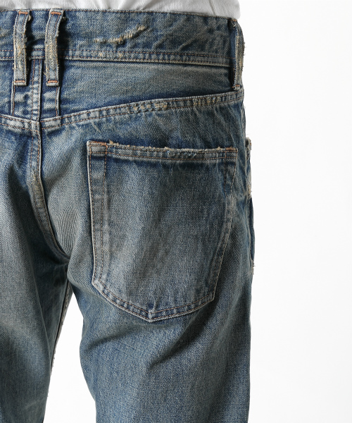 HQ DENIM 5P FRONT-POINT CROPPED TAPERED(VINTAGE FINISHED) TPTF2002