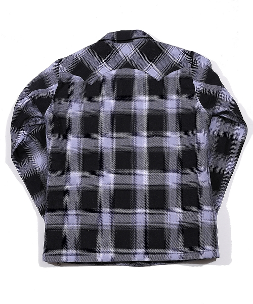 OMBRE PLAID MICRO SHEEP BOA JACKET (TJKF20SP04)