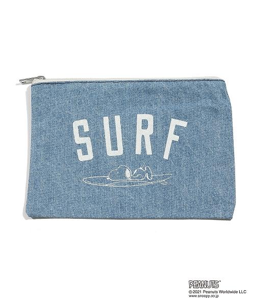 PEANUTS×TMT DENIM POUCH(SURF) TBAS21PN02