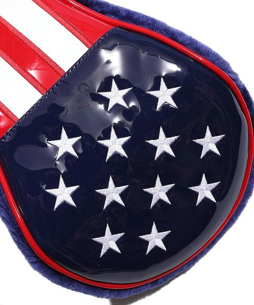 U.S.FLAG ENAMEL LETHER HEAD COVER (FOR DR)(TACF20CL01)