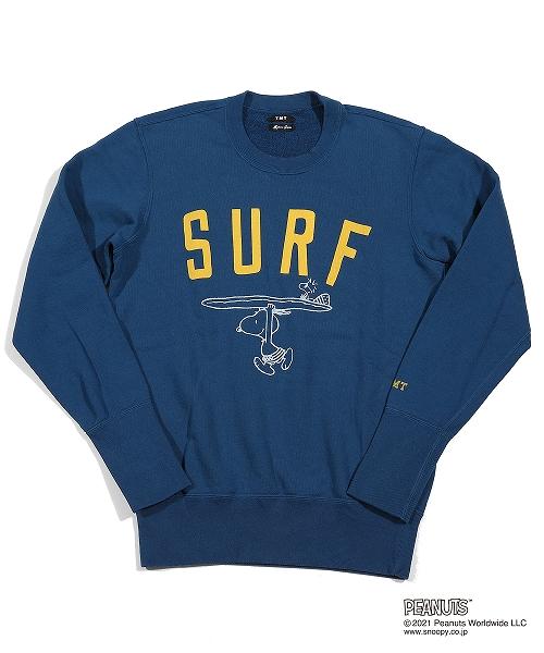 PEANUTS×TMT SWEAT SHIRTS(SURF) TSWS21PN03