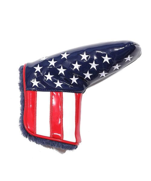 U.S.FLAG ENAMEL LETHER PUTTER COVER(PING)(TACF20CL04)