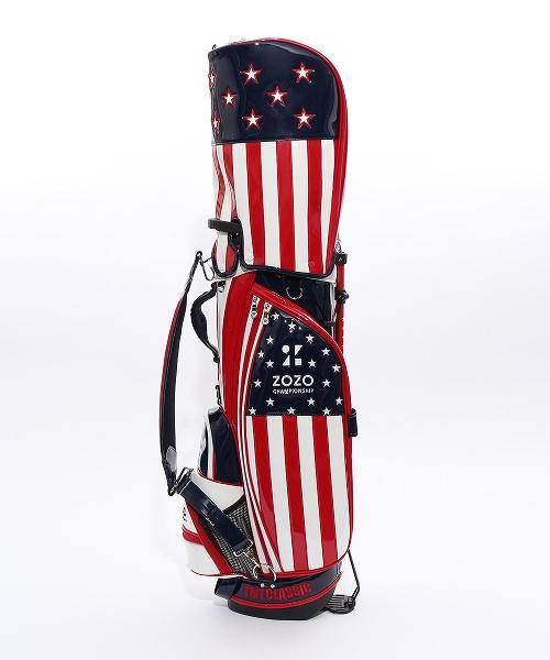 U.S.FLAG ENAMEL LETHER CADDIE BAG(STAND TYPE)ZOZO LIMITED(TBAF20ZZ02)