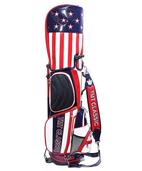 U.S.FLAG ENAMEL LETHER CADDIE BAG(STAND TYPE)(TBAF20CL04)