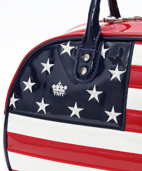 U.S.FLAG ENAMEL LETHER CART BAG(TBAF20CL06)