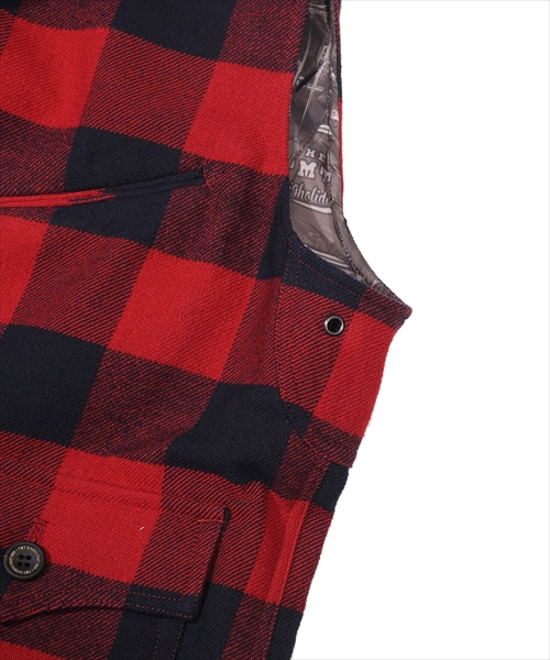 【雑誌「duet」3月号 掲載商品】COTTON-WOOL BUFFALO CHECK VEST(TJKF1907)