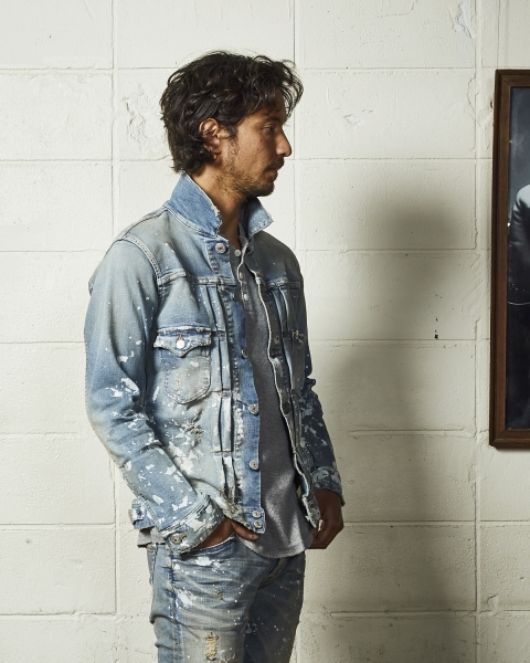 HYBRID-STRETCH DENIM JACKET-TYPE 2ND(DESTROY)(TJKF2009)