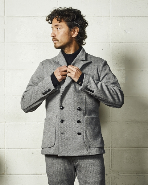 HERRINGBONE BOMBERHEAT TAILORED JACKET (TJKF2005)