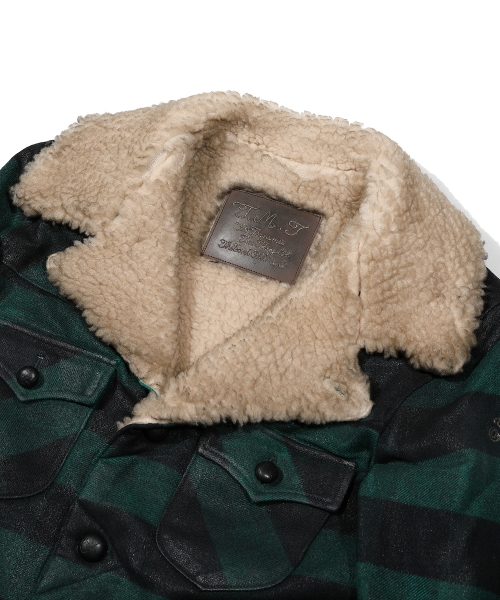 CHECKERED BOA RANCH COAT(OILE COATING) (TJKF2019)