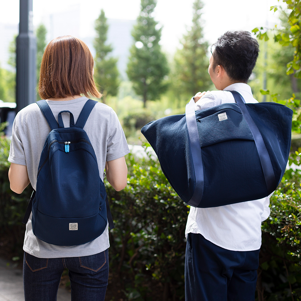 BACKPACK -ROUND- NAVY×BLACK