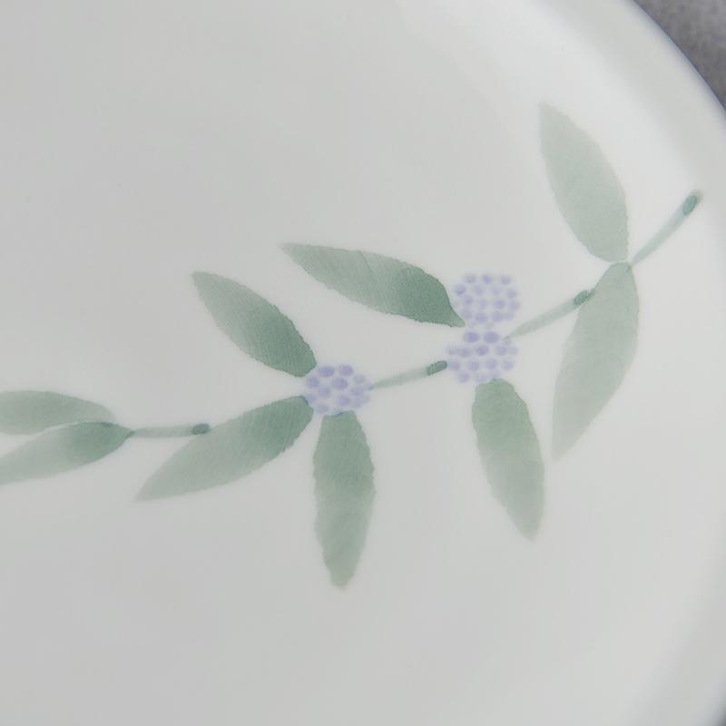 【砥部焼 南光窯】中皿/ムラサキシキブ