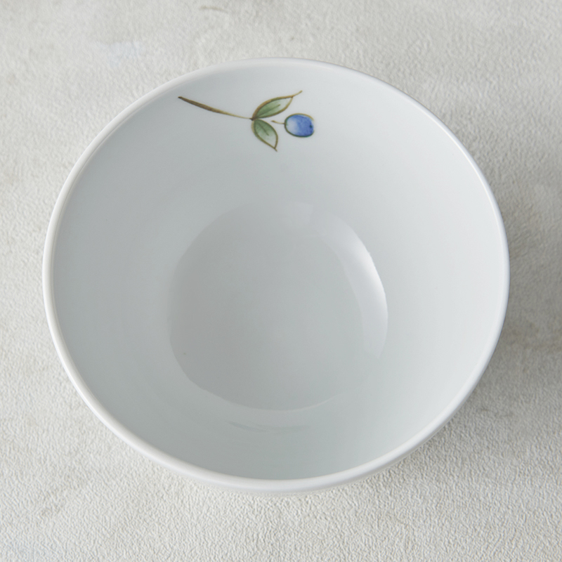 【砥部焼 大西陶芸】MARU-WAN(丸碗) シラサギ(青)