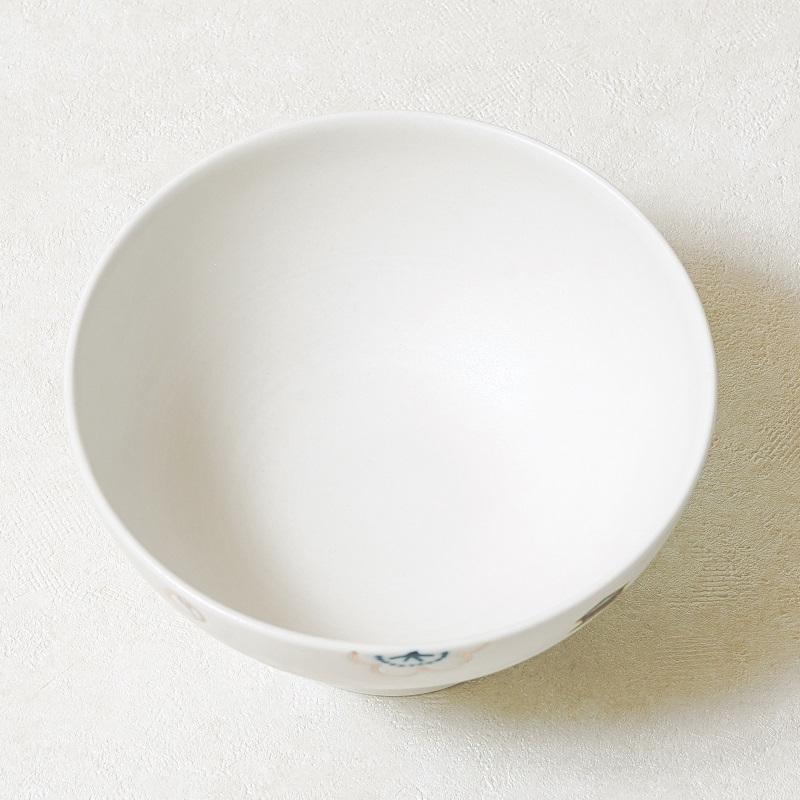 【砥部焼 すこし屋】茶碗大 道後×梅