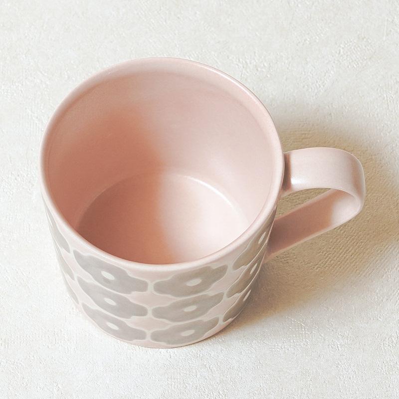 【砥部焼 すこし屋】マグカップ グレーピンク