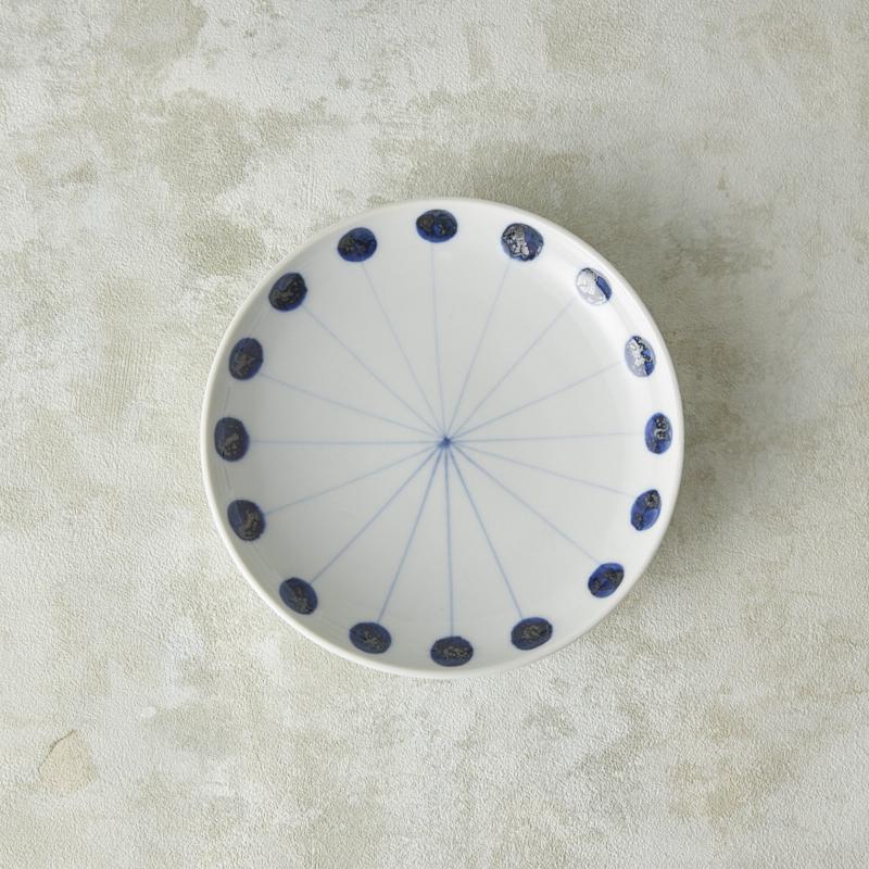 【砥部焼 五松園窯】5寸皿・丸線