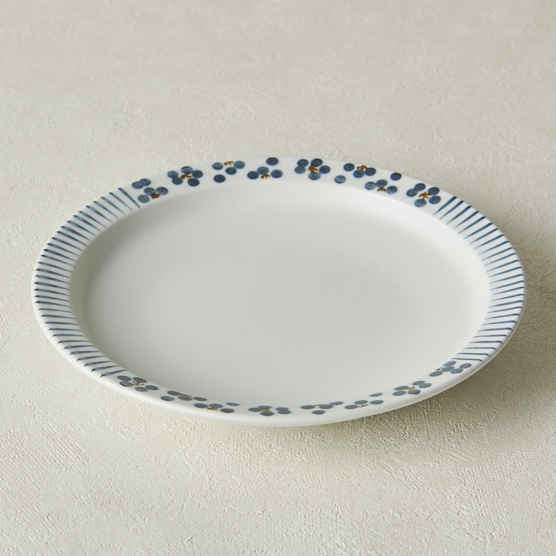 【砥部焼 すこし屋】5.5寸皿 mix青小紋