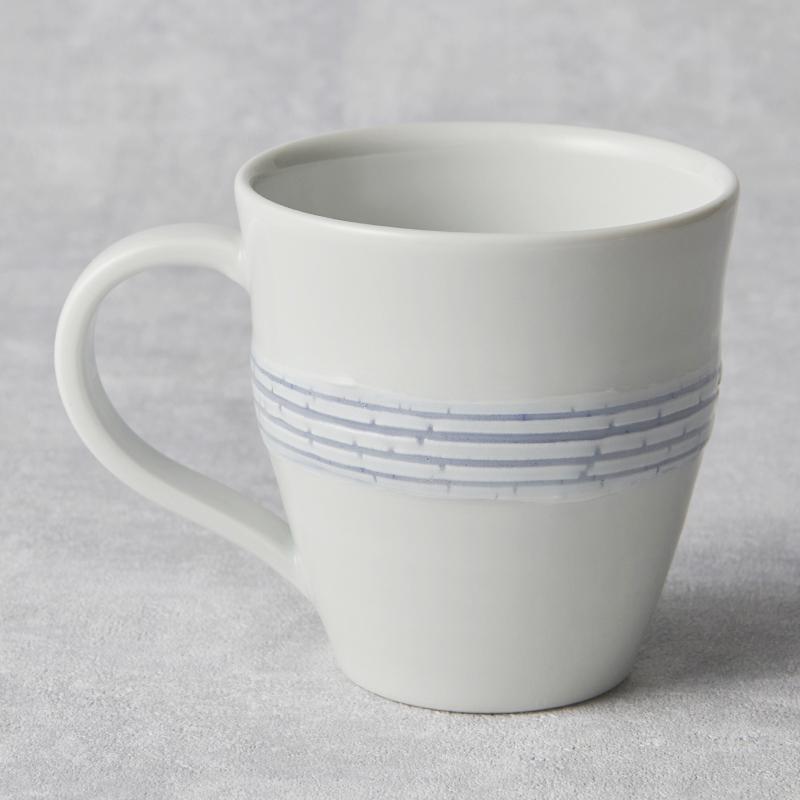 【砥部焼 南光窯】マグカップ/蒼裂