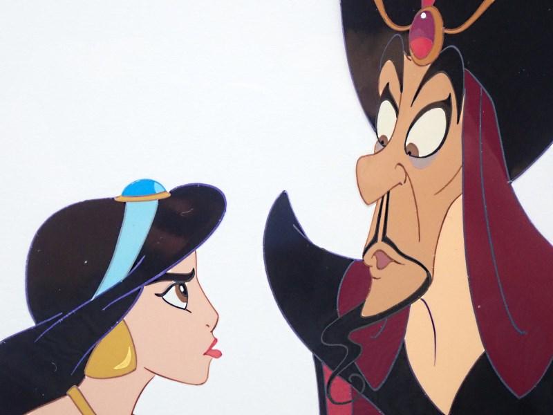 ディズニー映画「アラジン」のセル画「ジャスミンとジャファー」