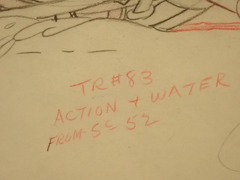 ディズニー映画「ミッキーの猛獣狩り」で使われたドローイング原画(額入り)