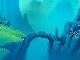ディズニー「リトルマーメイド(The Little Mermaid)」の制作で実際に使われたセル画と手描き背景のセット「アリエルとセバスチャン」一点物