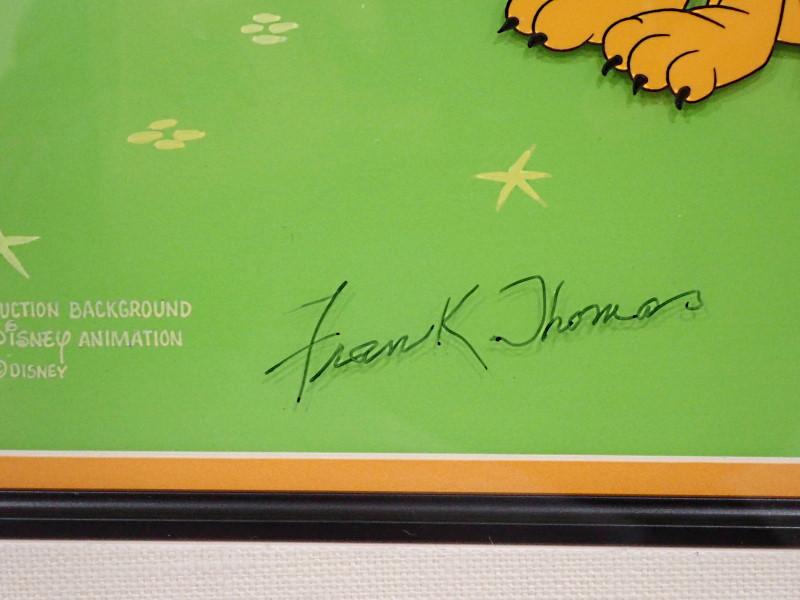 ディズニーのテレビ番組「Mickey Mouse Works」で実際に使われた、プルートの贈呈用セル画(手描き背景版)