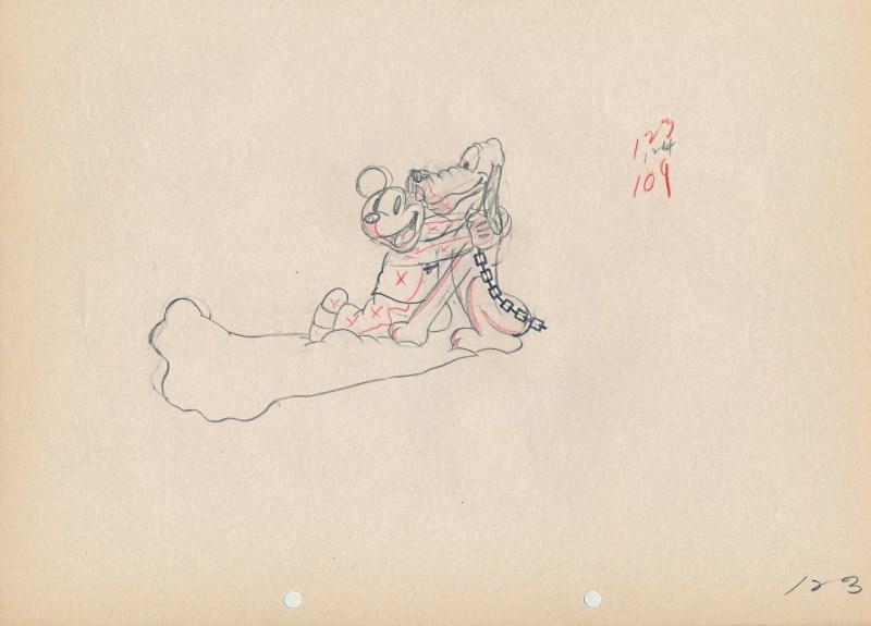 「ミッキーのお化け屋敷」に使われたドローイング-2