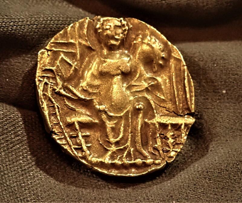 古代インド、クシャン朝、キパナダ(在位AD330-360年)ディナール金貨