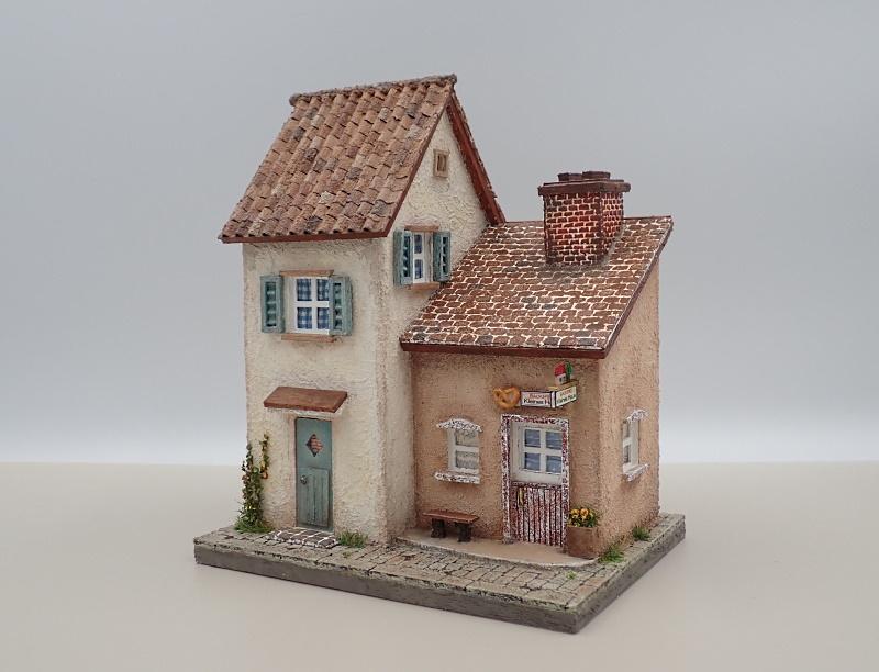 ドイツの小さな町のパン屋さん�(ブラウン)�