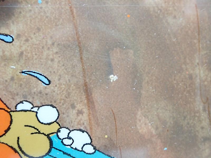 """ディズニー""""くまのプーさん""""の教育映画「僕たち皆少し違うね(We are All a Little Different)」の制作で実際に使われたセル画と手描き背景のセット"""