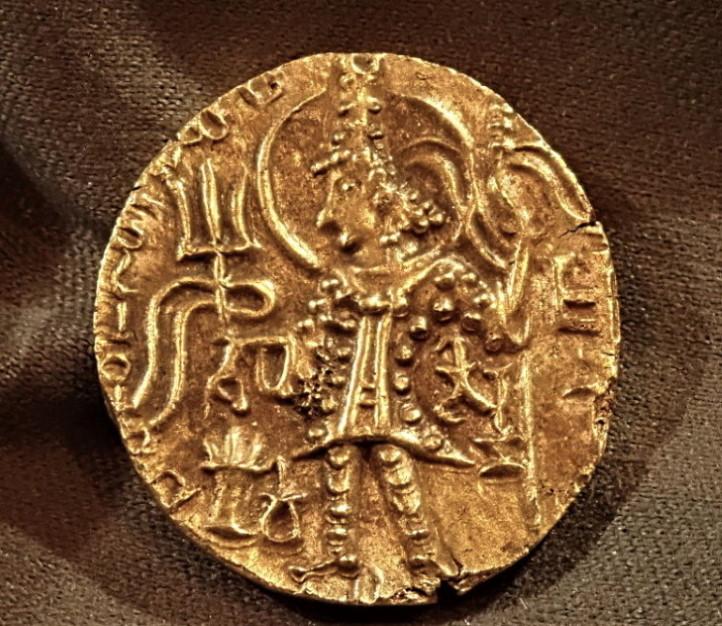 古代インド、クシャン朝、シャカ(在位AD325-345年)ディナール金貨