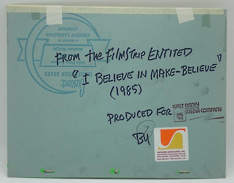 """ディズニー""""くまのプーさん""""の教育映画「信じられることを信じよう(I Believe in Make Believe)」制作で実際に使われたセル画と手描き背景のセット"""