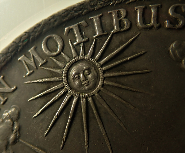 ドイツで1680年に発行された2ターレル大型銀貨