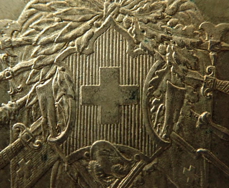 スイス射撃祭5フラン銀貨、1867年シュビーツ