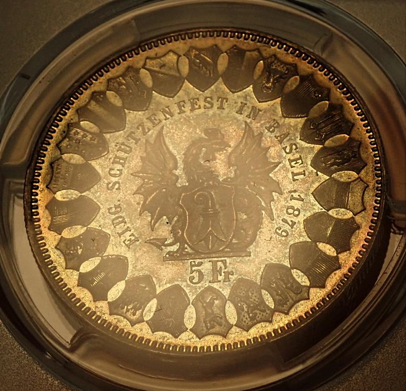 スイス射撃祭5フラン銀貨、1879年バーゼル