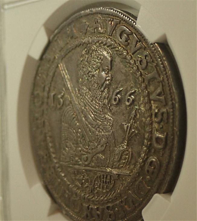 ドイツ、ザクセン1566年初期ターレル高鑑定品、KM-MB182
