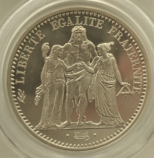 フランス1972年、贈呈用ピエフォー10フラン銀貨、KM-P458(発行枚数500枚)
