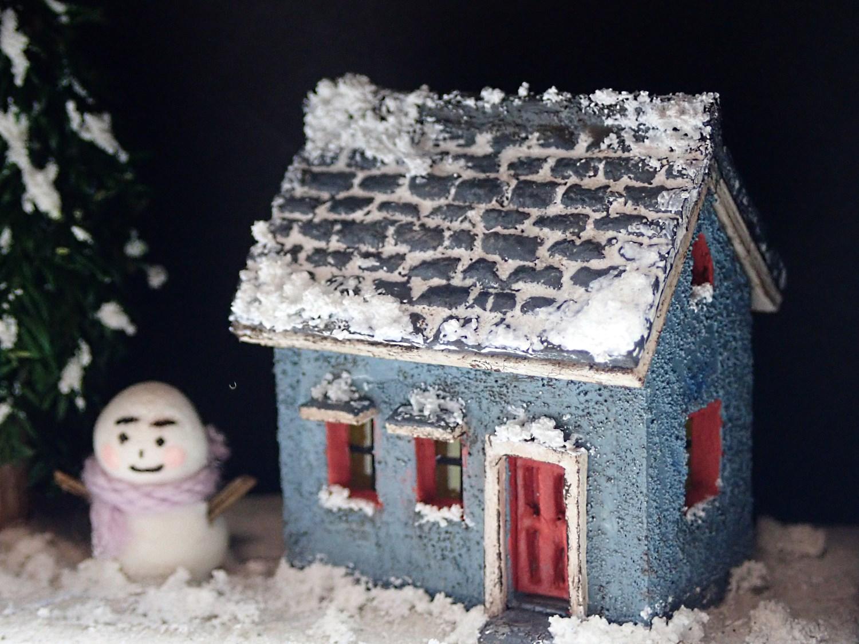 雪だるまと小さなおうち(ブルー)2