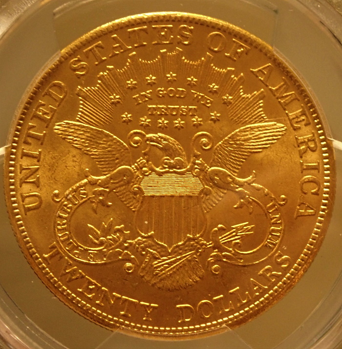 アメリカ1904年リバティヘッド20ドル金貨、MS65+高鑑定