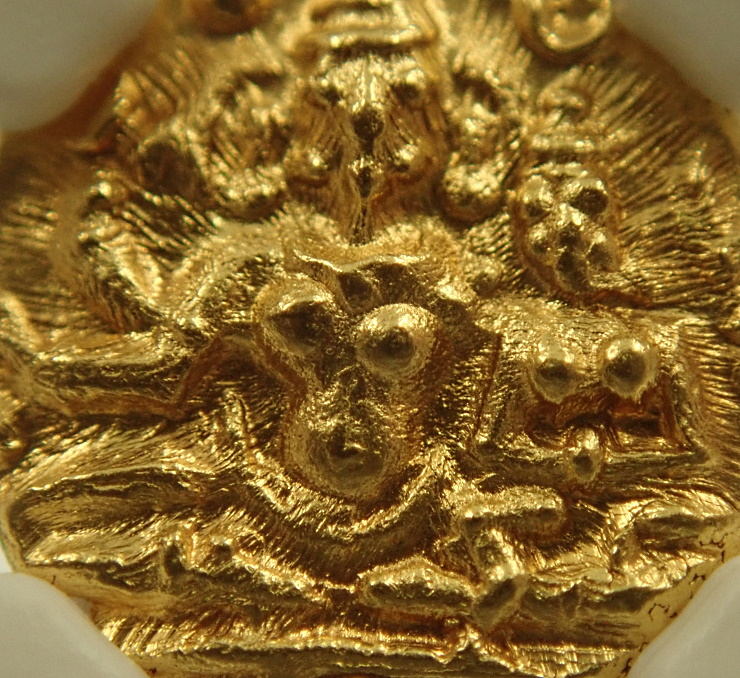 インド、ヴィジャヤナガル王国の1/2パゴダ金貨、ハリハラ2世(在位1377-1404年)