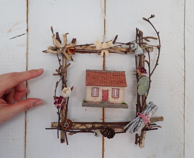 小枝のフレーム�「小さいお家」(オレンジ)